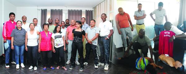 Croix Rouge Malagasy : Des agents du Trésor Public en formation