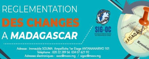 Une brochure relative à la réglementation des changes disponible